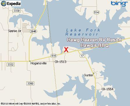 Lake Fork Hawg Heaven Rv Resort And Hawg S Bbq