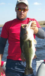 Tom Redington's client Dave, Nov. 5 caught a 7 pounder on a crankbait