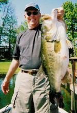 Tom caught this Lake Fork trophy bass fishing with Pro Guide Lance Vick
