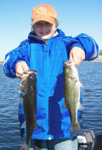 10 year old Aaron had a blast catching a bunch of bass on a drop shot, caught fishing with Pro Guide Tom Redington