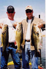 This is 2 more of  Pro Guide Lance Vick's  clients with 3 Lake fork lunkers