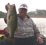 Tom Jeffries from Alany, TX caught this bass  while fishing with  Pro Guide John Tanner.
