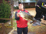 Kenny Roth of St. Louis, Missouri caught this 11.15 bass while staying at Lake View Lodge.