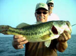 Bass fishing with Pro Guide Wendell Moon