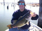 Elvin Smith from Rockwall TX with a Lake Fork chunk caught on 1/2 with a lipless crankbait on his 3rd cast!