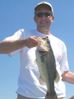 Bob Noel caught this nice bass while fishing with Pro Guide Tom Redington