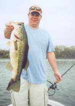 Chris Golden caught this bass fishing with Pro Guide Tony Clark