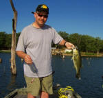 Michael Tutton caught this 3.0 bass on a baby brush hog