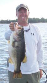 Pro Guide Tom Redington caught this 7-7 on a Carolina rig.