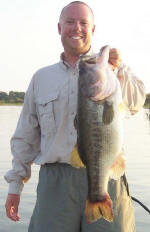 Pro Guide Tom Redington caught this Lake Fork bass weighing over 8lbs