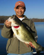 James from Virginia with an 8 lb'er, caught on a lipless crankbait while fishing with Lake Fork Pro Guide Tom Redington