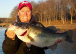 Lake Fork Pro Guide Tom Redington with a bass of almost 10 lbs, caught on the new Lake Fork Live Magic Shad.