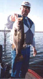 Bill Hicks from Austin Tx with a Lake Fork Bass caught in March while fishing with Guide JW Peterson
