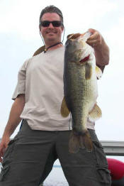Jay Gulley with a 7 pound Lake Fork bass.