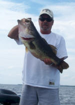Arnold Thorton from Dallas caught this 10 lb. bass  while fishing with Lake Fork Pro Guide John Tanner