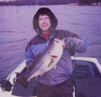 Mike Stillabower caught this trophy bass weighing 10.16.