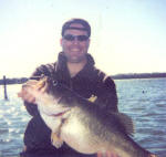 Chris Jackson with an 11.4 trophy bass caught while fishing with Lake Fork Pro Guide Rick Collis