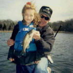 Pro Guide Jim Reaneau and his grand daughter.