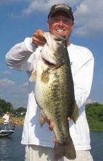 Pro Guide Tom Redington with a 10 lb. 6oz. bass