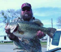 13.92 lb. Largemouth Bass caught at 2:00 PM Friday, March 22th at Lake Fork.
