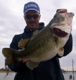 Pro Guide John Tanner with a 9.6 bass caught 1-27-06. It's January...Gentlemen start your engines!