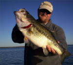 Shane Moore of Southwest Parts and Service of Dallas caught this Lake Fork bass.