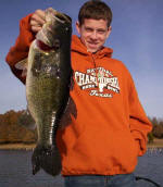Parker Fox, his first fishing trip to Lake Fork. Caught while fishing with Pro Guide John Tanner