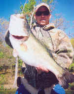 Michael Sikes displays a 9.72 Lake Fork bass