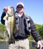 David Pennington from OK with a hog he caught with Pro Guide John Tanner on 4/9.