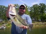 Jesse Torres from Waco TX. with a 7.8 and an 8 pounder caught with Pro Guide John Tanner on 4/15, his personal best day of bass fishing.  Despite the 25 mph winds it was another awesome day on Lake Fork!