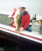 Pro Guide Tony Clark with a Lake Fork hawg.