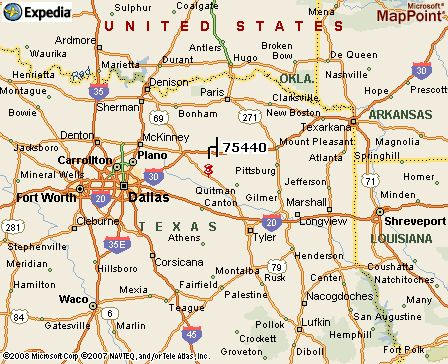 Map Of East Texas General Area